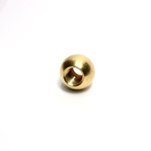 Solid Brass Thru-ball Finial 19.75mm Diameter M10 x 1mm Pitch Thread